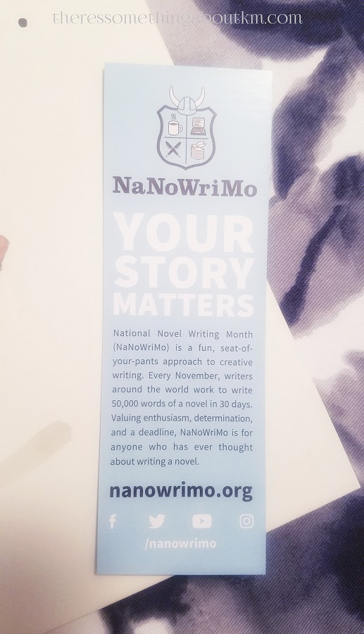 NaNoWriMo Bookmark