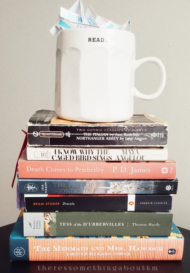 January TBR Book Stack